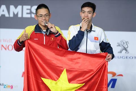 Nguyen Huy Hoang Tu cau be lang chai thanh ky luc gia o SEA Games hinh anh